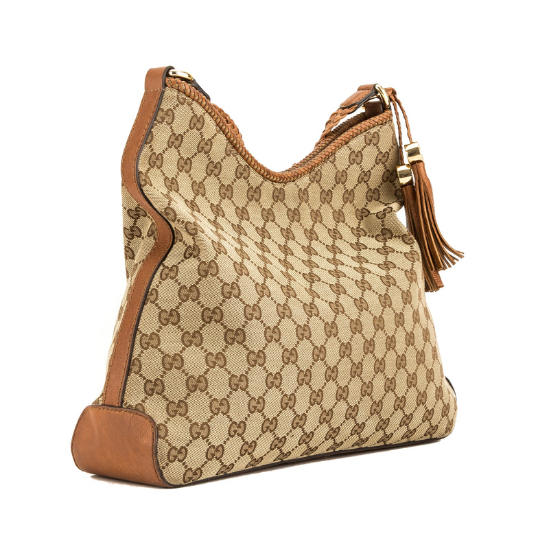 Gucci GG Canvas Marrakech Medium Hobo Bag (4068007)