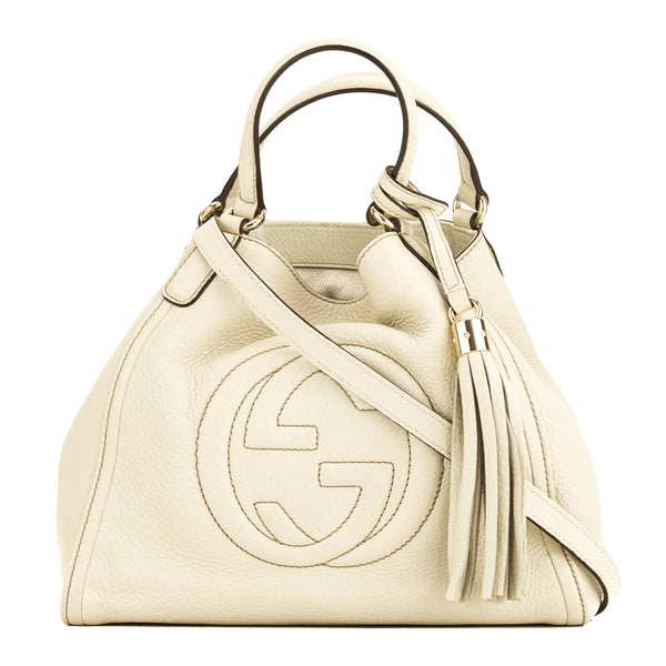 Gucci White Soho Small Hobo (4071001)