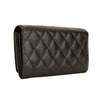 Chanel Black Quilted Lambskin Leather Cambon Line Long Wallet (4073002)