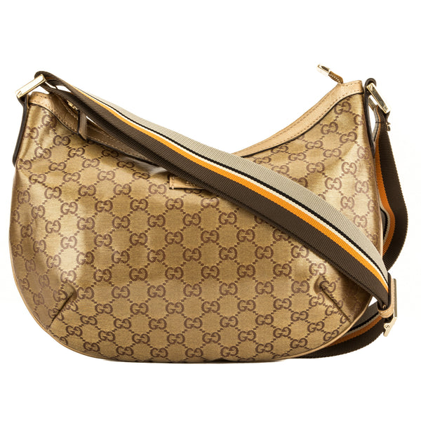Gucci Gold PVC GG Monogram Canvas Shoulder Bag (4079007)