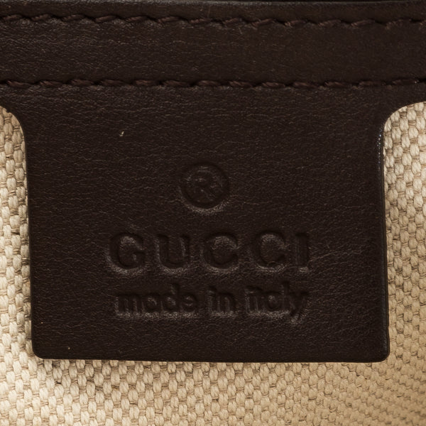 Gucci Brown Leather PVC Guccissima Handbag (4079009)