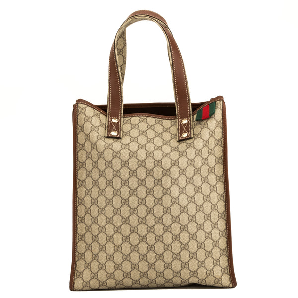 3e5694361653 Gucci Brown GG Monogram Tote (4081001) - 4081001 | LuxeDH