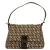 Fendi Zucchino Brown Leather Shoulder Bag (4089007)
