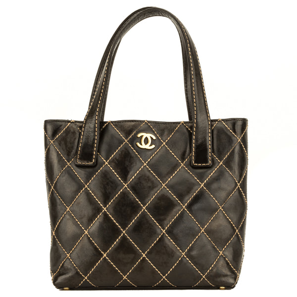 Chanel Black Quilted Wild Stitch Tote (4093024)