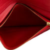Louis Vuitton Red Leather Monogram Canvas Kimono Wallet (4098007)