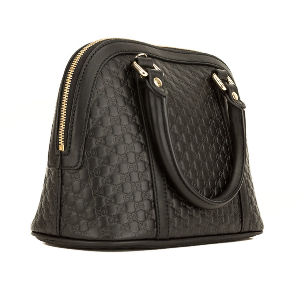 Gucci Black Micro Guccisima Small Dome Satchel (4122006)