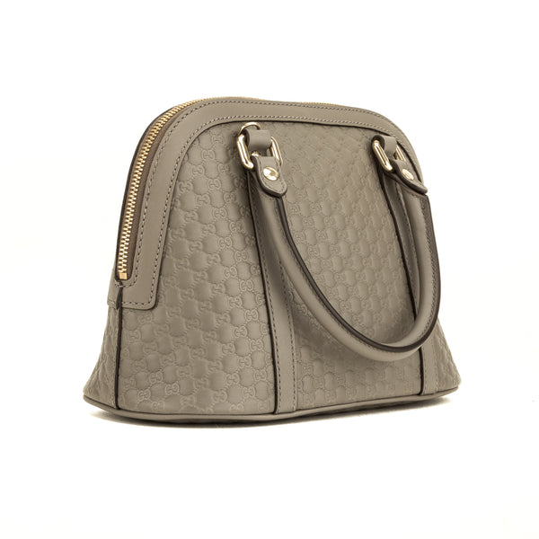 Gucci Gray Micro Guccisima Small Dome Satchel (4135018)