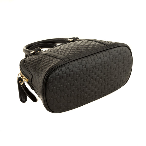 Gucci Black Micro Guccisima Small Dome Satchel (4149008)