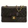Chanel Black Quilted Lambskin Medium Double Flap (4161004)