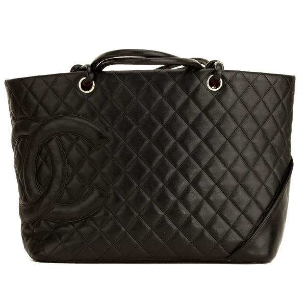 Chanel Black Quilted Calfskin Small Cambon Ligne Tote (4168001)