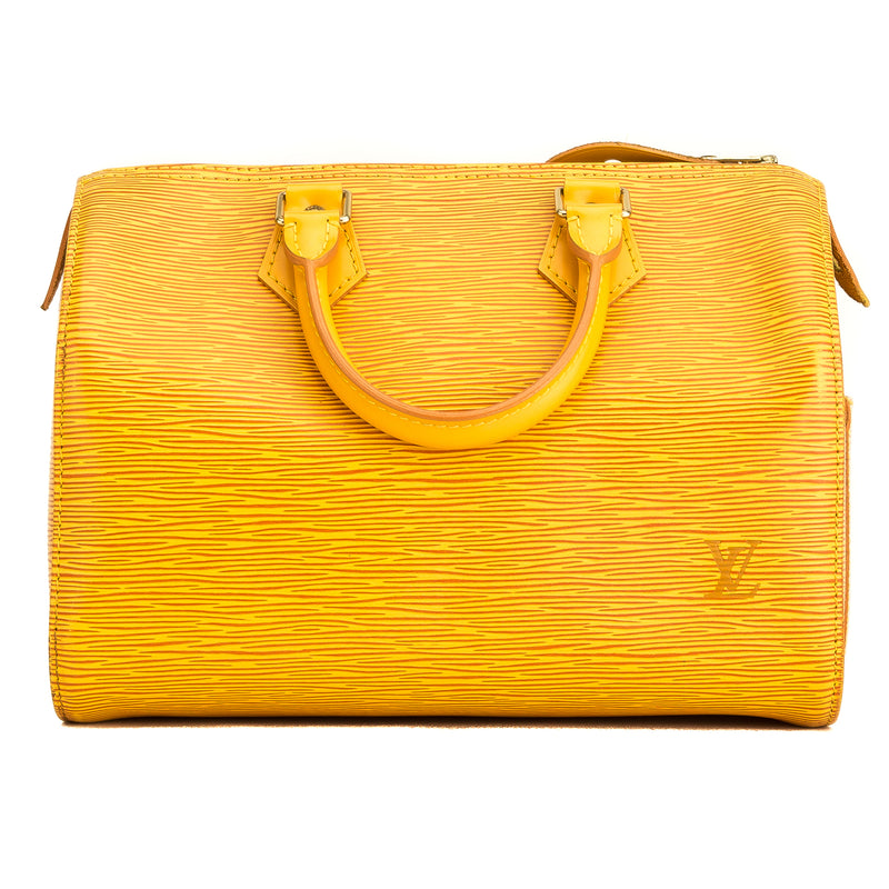 Louis Vuitton Yellow Epi Speedy 25  (4171009)