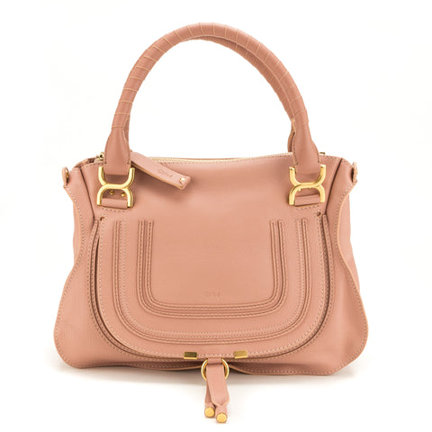 Chloe Pink Calfskin Marcie Medium Tote (New with Tags)