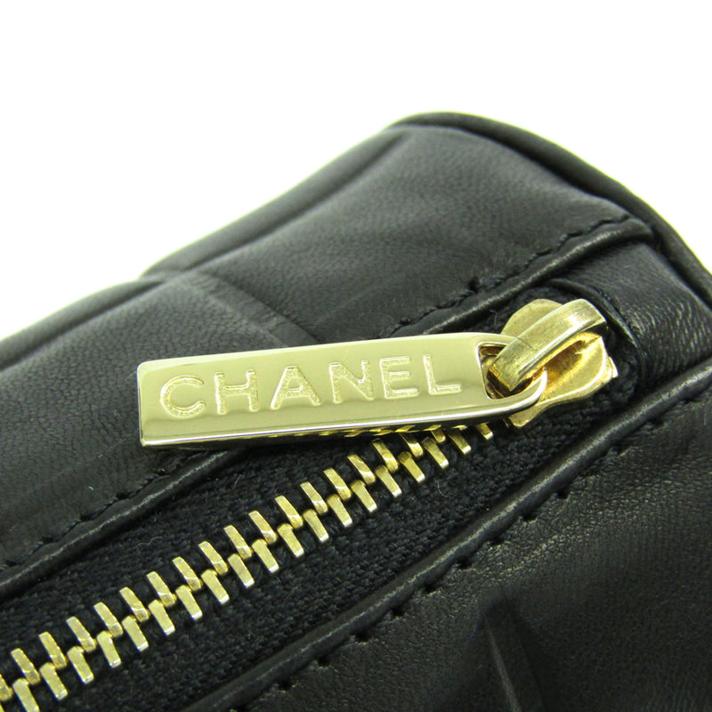 Chanel Black Lambskin Chocolate Bar Cosmetic Pouch (SHA-14313)