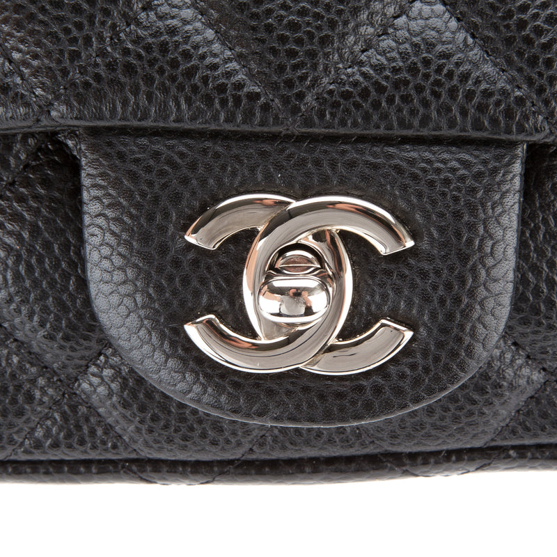 Chanel Black Single Chain Shoulder Bag (Authentic Pre Owned)