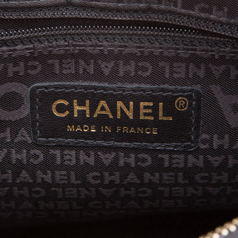 Chanel CC Black Leather Shoulder Bag (Authentic Pre Owned)