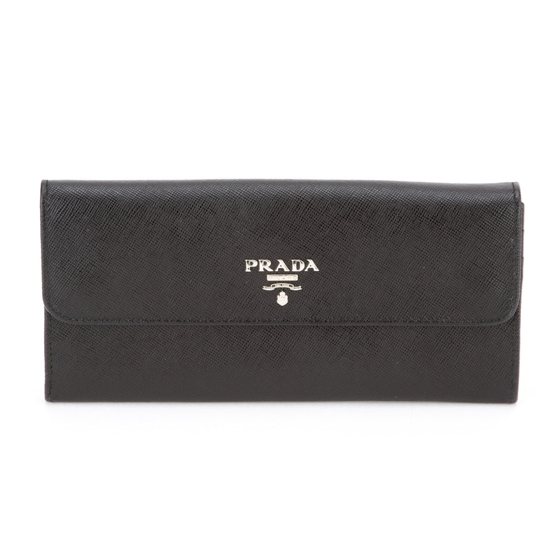 Prada Black Leather Wallet (Authentic Pre Owned)