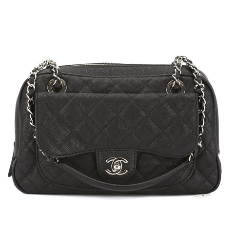 Chanel Black Quilted Caviar Leather Paradoxal Camera Bag (Pre Owned)