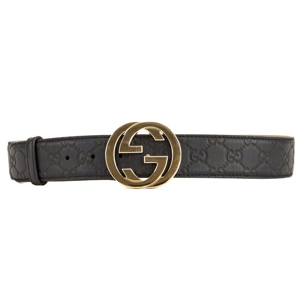 Gucci Navy Blue Signature Leather Belt (7000258)