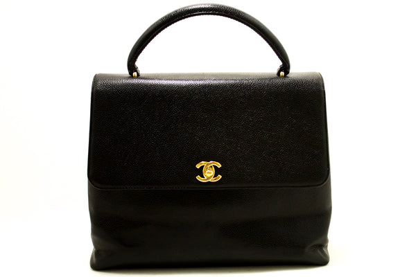 Chanel Black Caviar Kelly Classic Flap (SHB-10001)