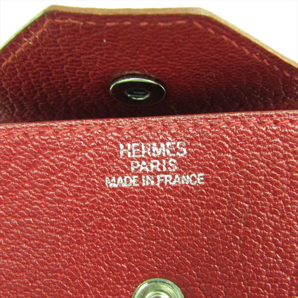Hermes Bordeaux Togo Le 24 Coin Purse (SHA-13970)