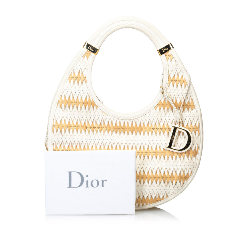 Pre-Loved Dior White Others Leather Diorita Hobo Italy