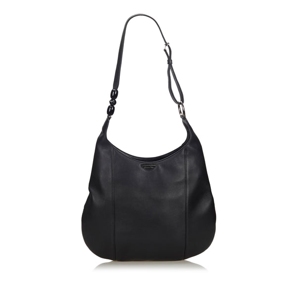 Pre-Loved Dior Black Others Leather Malice Pearl Hobo Bag France