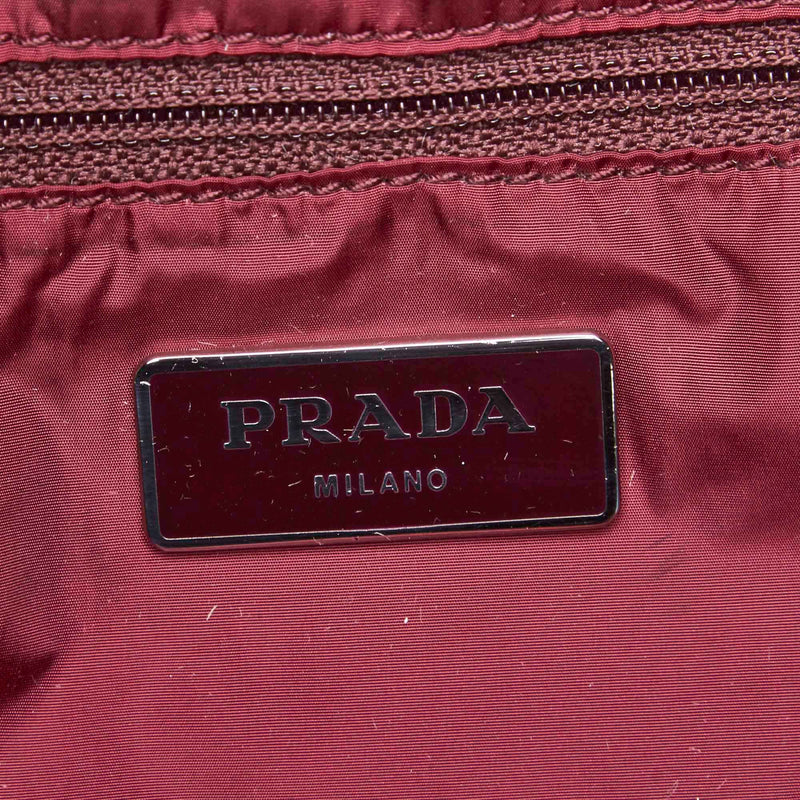 Pre-Loved Prada Red Nylon Fabric Printed Tote Bag Italy