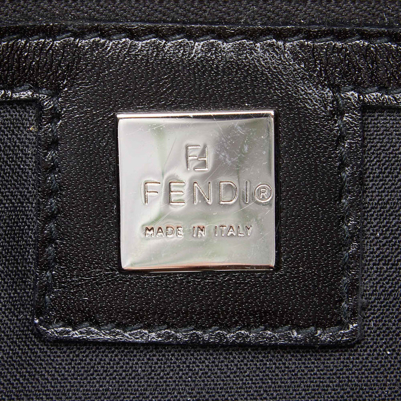 Pre-Loved Fendi Black Pony Hair Natural Material Shoulder Bag Italy
