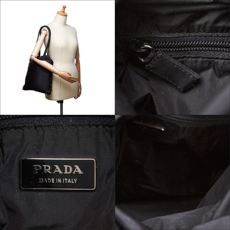 Pre-Loved Prada Black Fur Natural Material Shoulder Bag Italy