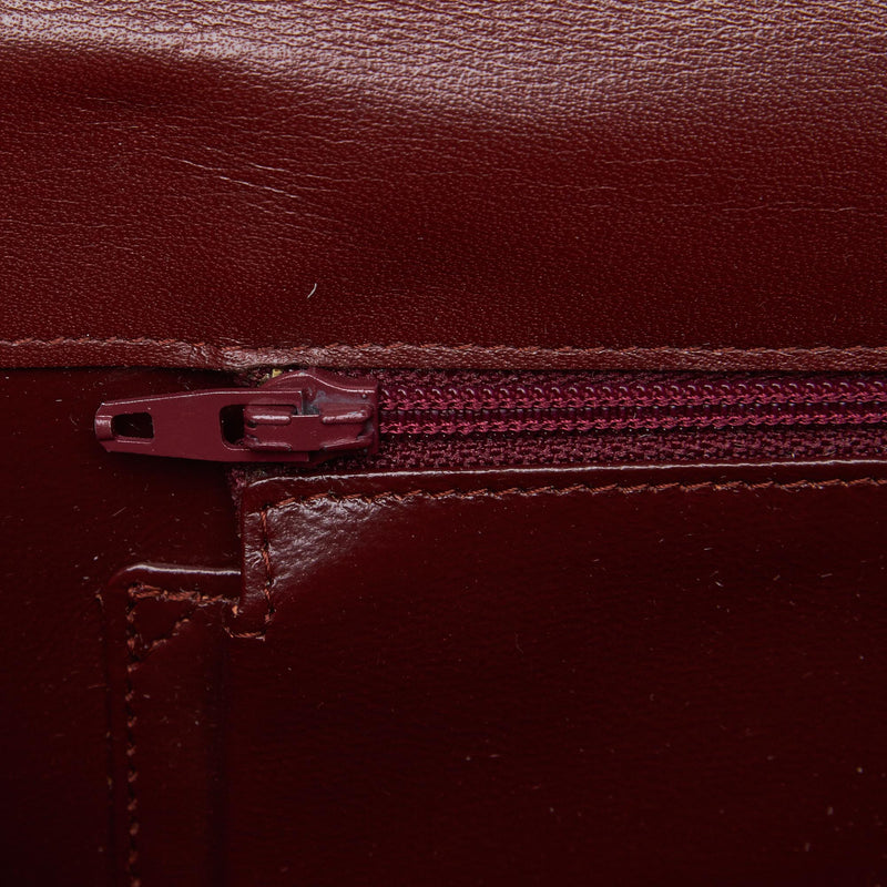 Pre-Loved Cartier Red Bordeaux Others Leather Must de Clutch FRANCE