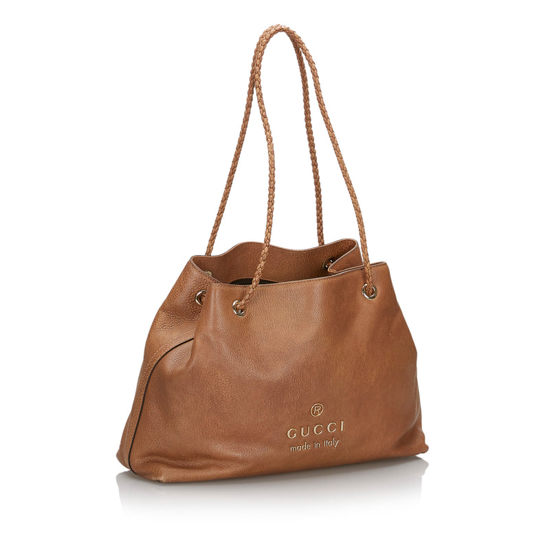 Pre-Loved Gucci Brown Light Others Leather Gifford Tote Bag Italy