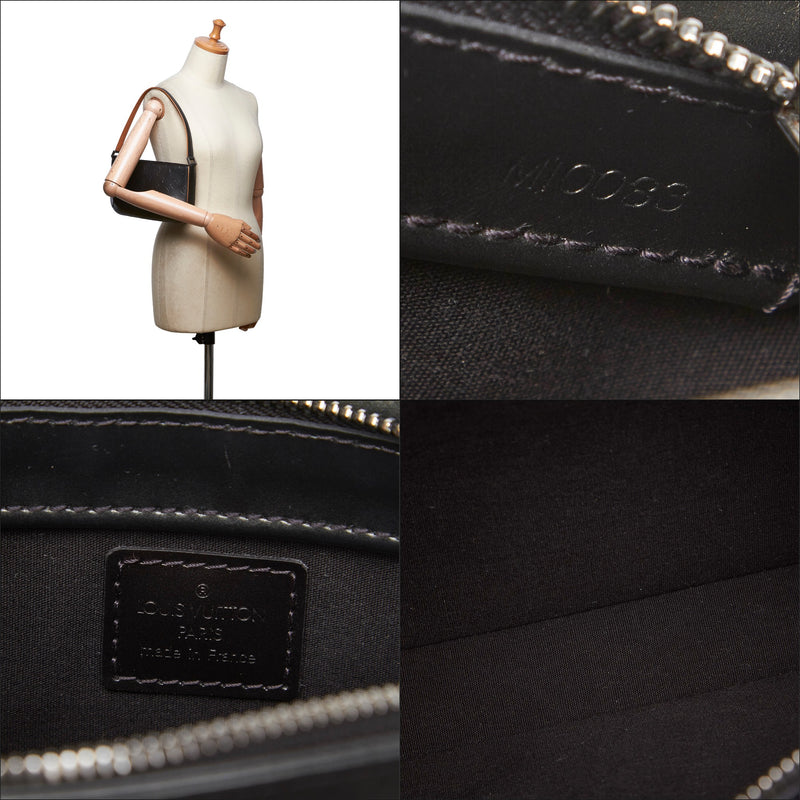 Pre-Loved Louis Vuitton Black Others Leather Monogram Mat Fowler France