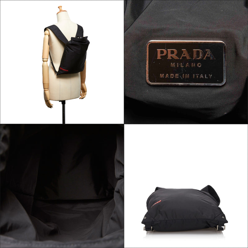 Pre-Loved Prada Black Nylon Fabric Sports Backpack Italy