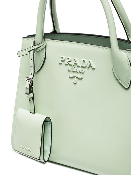 Pre-Loved Prada Green Light Others Leather Satchel ITALY