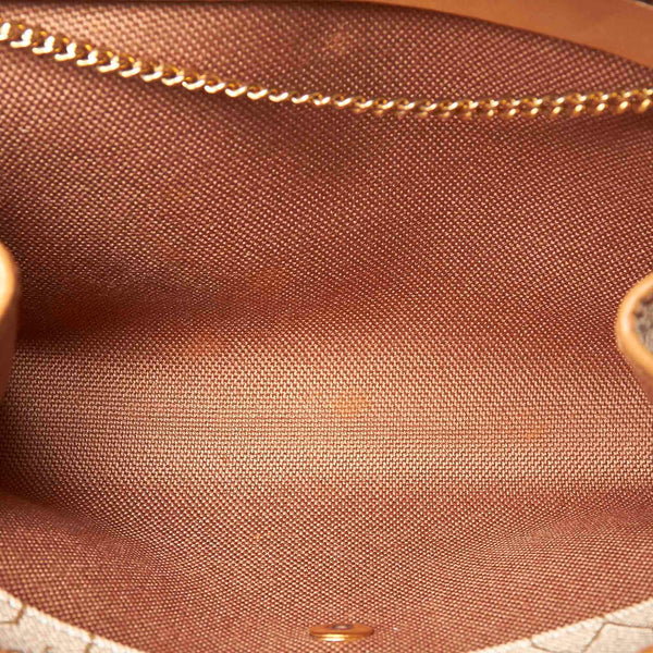 Pre-Loved Dior Brown Honeycomb Coated Canvas Chain Shoulder Bag France