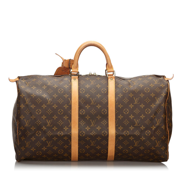 Pre-Loved Louis Vuitton Brown Monogram Canvas Keepall 55 France