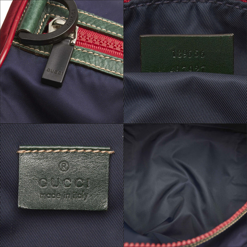 Pre-Loved Gucci Blue Nylon Fabric Duffel Bag Italy