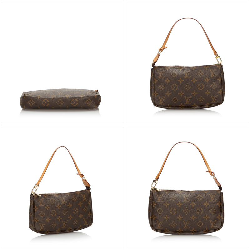Pre-Loved Louis Vuitton Brown Monogram Pochette Accessoires France