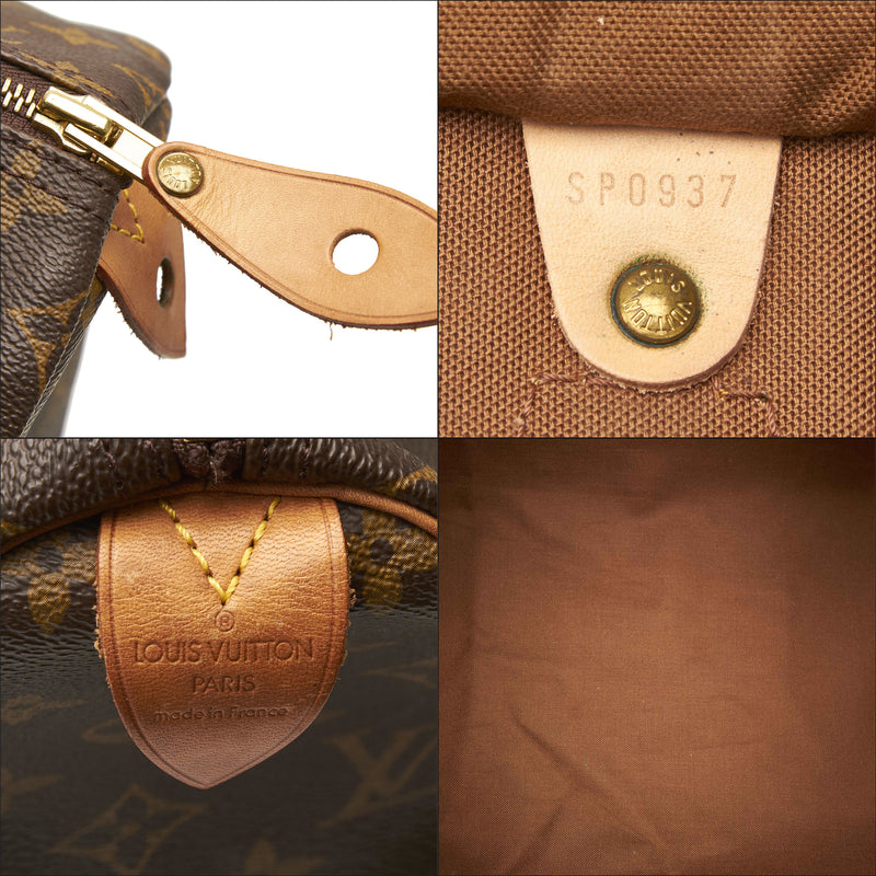 Pre-Loved Louis Vuitton Brown Monogram Canvas Speedy 40 France