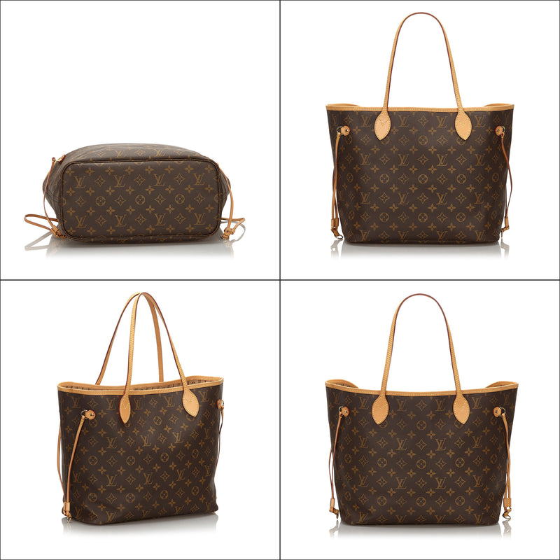 Pre-Loved Louis Vuitton Brown Monogram Canvas Neverfull MM France