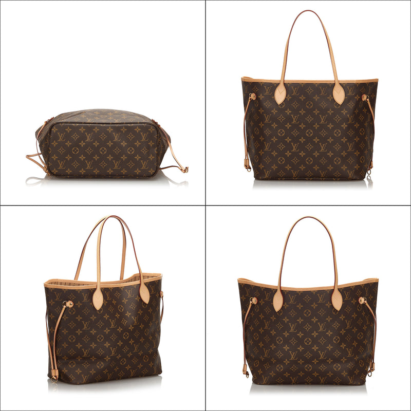 Pre-Loved Louis Vuitton Brown Monogram Canvas Neverfull MM Spain