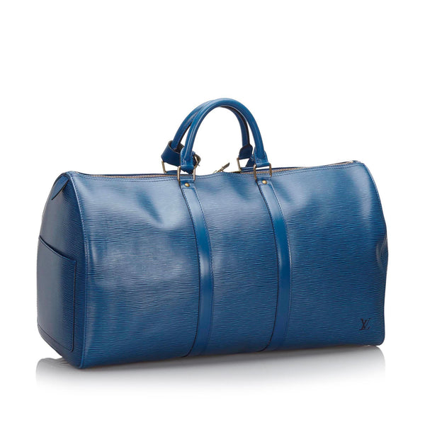 Pre-Loved Louis Vuitton Blue Epi Leather Keepall 50 France