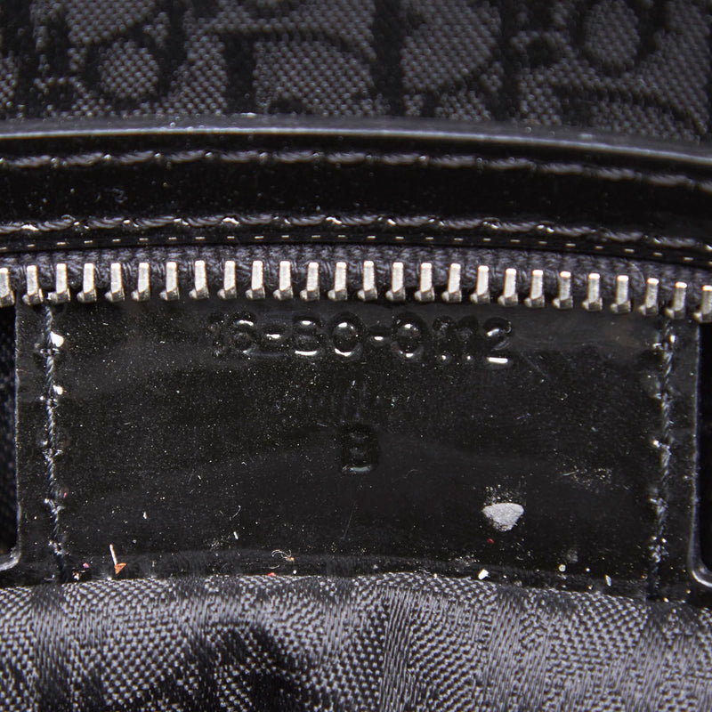 Pre-Loved Dior Black Patent Leather Cannage Lady Satchel France
