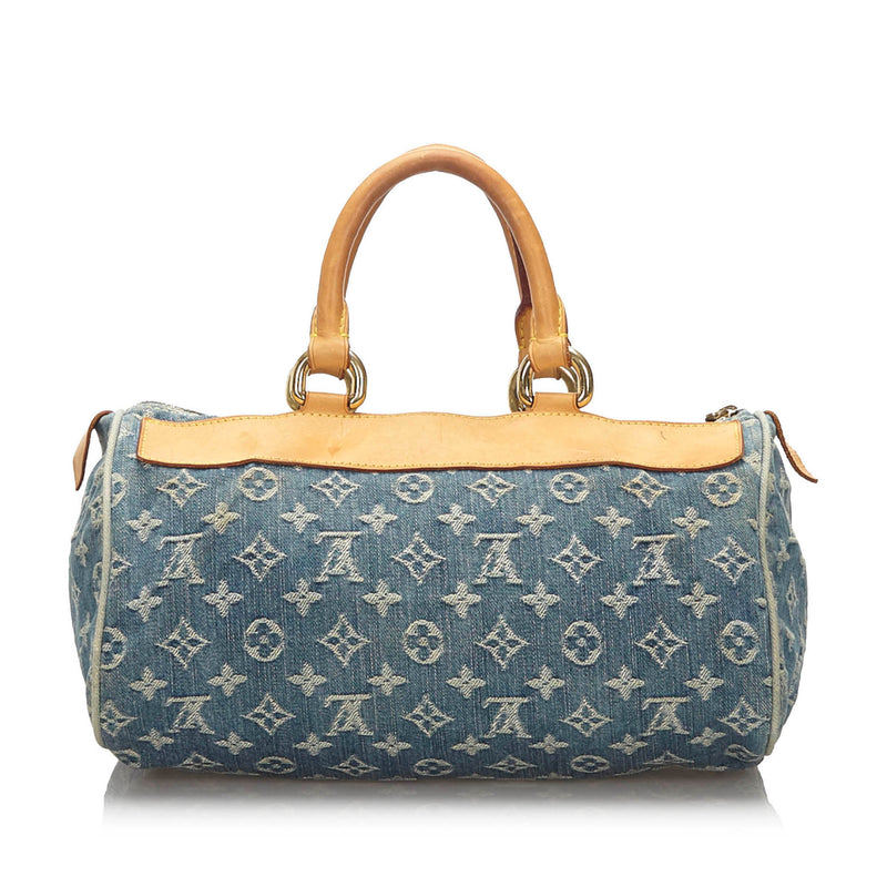Pre-Loved Louis Vuitton Blue Denim Fabric Monogram Neo Speedy France