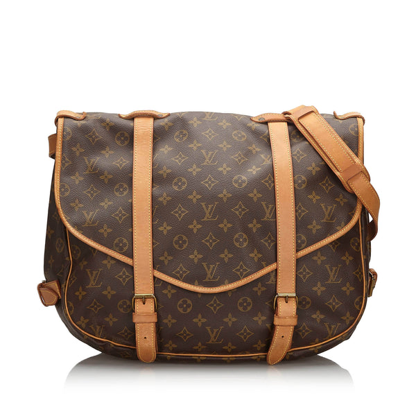 Pre-Loved Louis Vuitton Brown Monogram Canvas Saumur 43 France