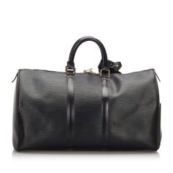 Pre-Loved Louis Vuitton Black Epi Leather Keepall 45 FRANCE