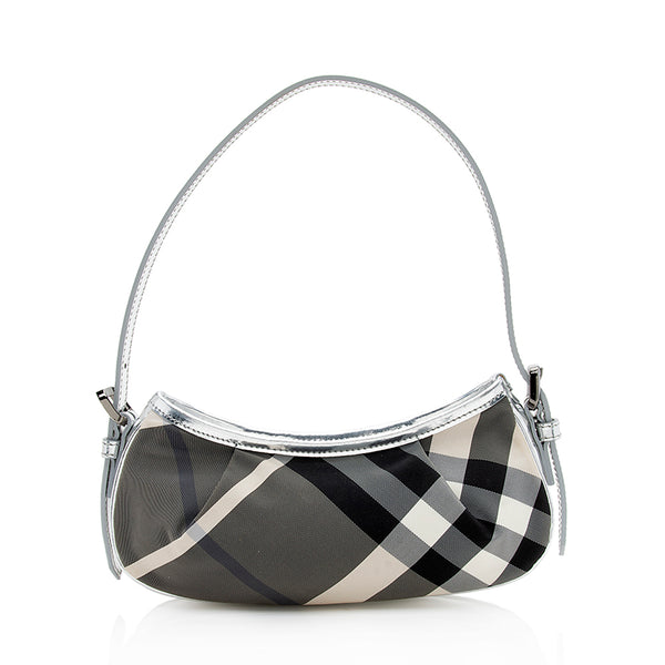 Burberry Beat Check Small Shoulder Bag