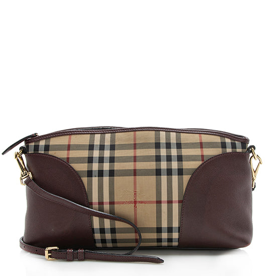 Burberry Horseferry Check Leather Chichester Crossbody Bag
