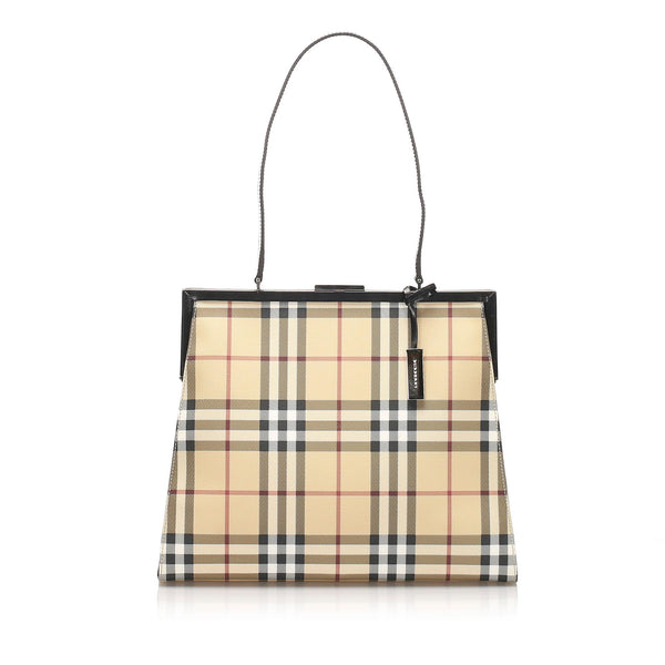 Burberry House Check Canvas Shoulder Bag (SHG-10245)