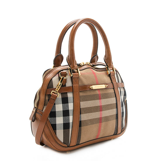 Burberry House Check Orchard Small Satchel